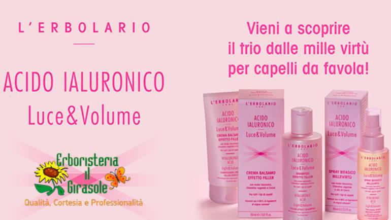 Evento de L'Erbolario: Nuova Linea Acido Ialuronico Luce & Volume